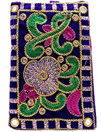 Bagaholics Ethnic Raw Silk Saree Clutch Mobile Pouch Waist Clip Ladies Purse Gift For Women - B06VY25Y5L