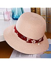 Cappello da Sole da Donna Cappello - Cappello Estivo da Donna Cappello di  Paglia Visiera Pieghevole d4f3bbf46ca9
