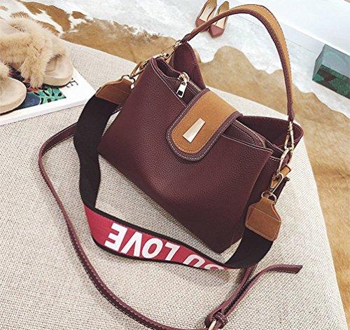 ZKOO Damen Schultertaschen Kunstlederschen Mode Tragetaschen Umhängetasche Handtasche Shopper Violett