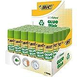 BIC ECOlutions Bâtons de Colle Blanche - 8 g, Boîte de 30