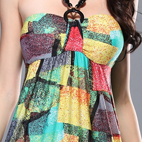 KAXIDY Femme Longue Robe de Soirée Sans Manches Robe de Cocktail Plage Partie Robes Style-03