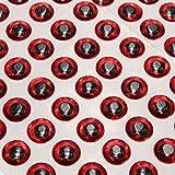 TENGGO Fliege von 7mm 100Pcs Stück Binden durch Augen Sticker Autas 3d-Tools Fischerei Köder rot