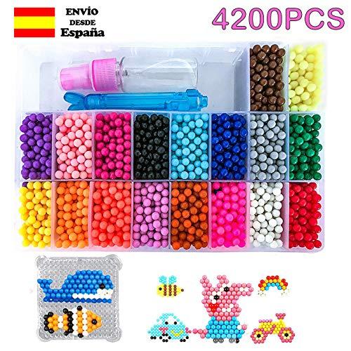 Shafier Abalorios Cuentas Agua 4200 Perlas 18 Colors/Hama