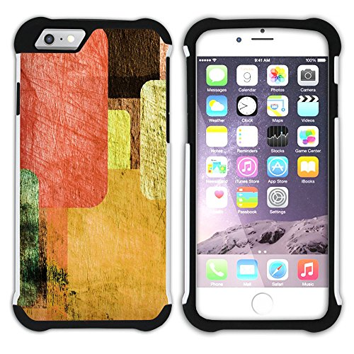Graphic4You Paint Brush Palette Design Hart + Weiche Kratzfeste Hülle Case Schale Tasche Schutzhülle für Apple iPhone 6 Plus / 6S Plus Design #3
