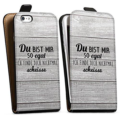 Apple iPhone X Silikon Hülle Case Schutzhülle Egal Scheiße Spruch Downflip Tasche schwarz