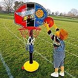 BonZeaL Adjustable Basketball Goal Hoop Game Set for Kids Boys Above 4 5