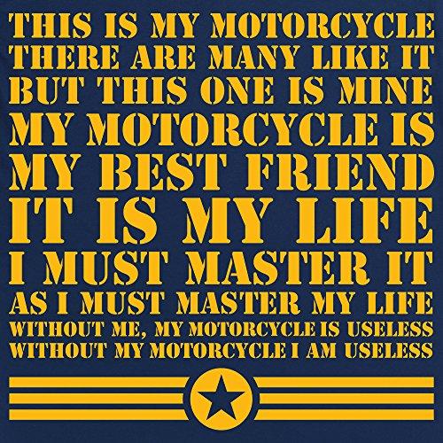 This Is My Motorcycle T-shirt, Uomo Blu navy