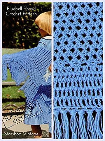 Bluebell Shawl: Vintage 1970s Crochet Kids' Pattern