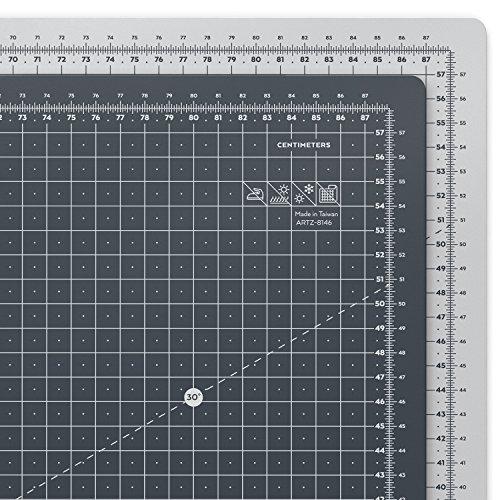 Arteza Schneidematte 90 x 60 cm — Selbstheilende Schneideunterlage — 3 mm Dick — Doppelseitig für Rollschneider