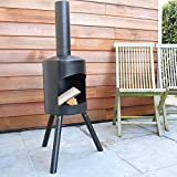 Gartenofen - Terrassenofen Authentica Small - 120 x 40CM - Black - Kostenloser Versand