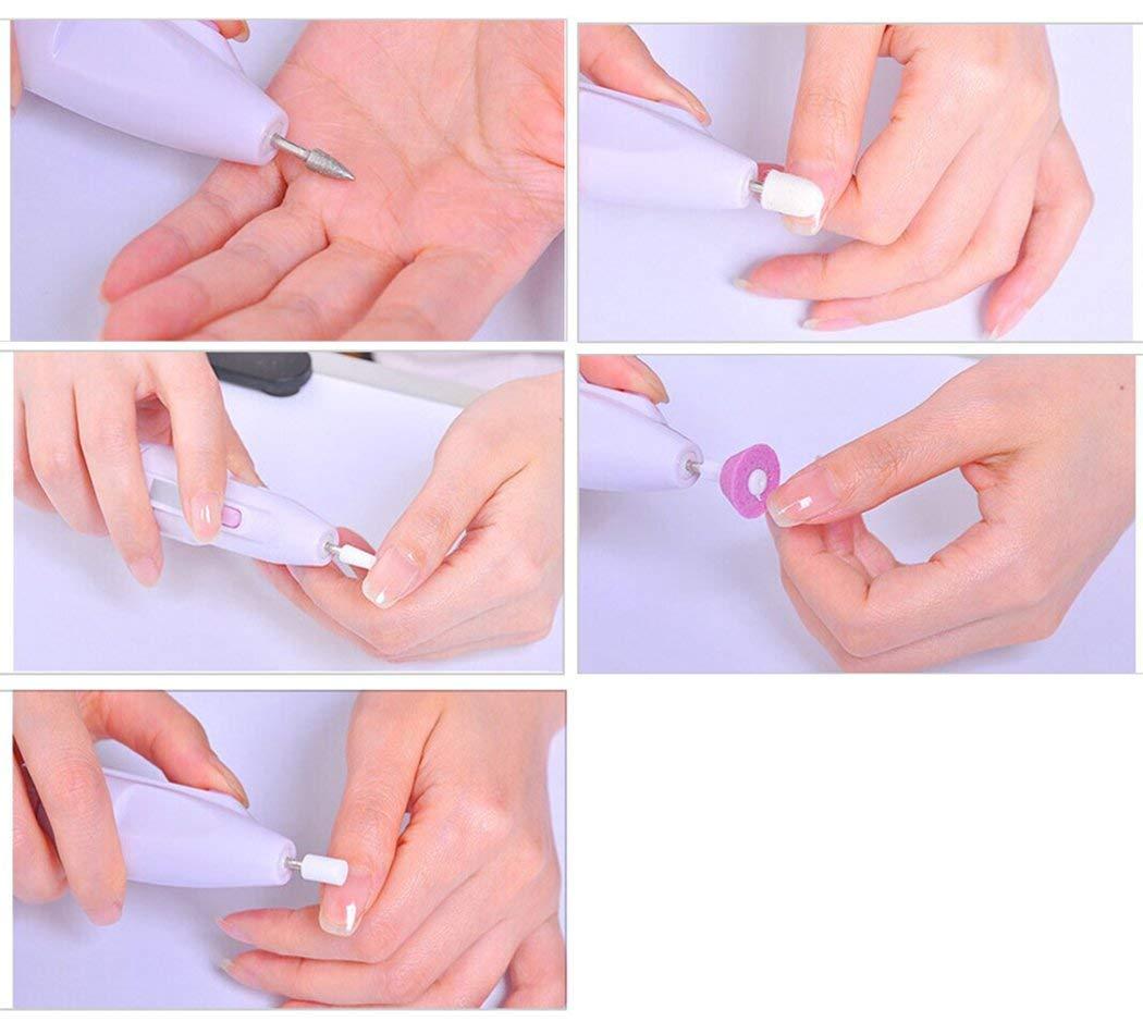 Kit de Manicura Eléctrico,Kapmore Torno para uñas 5 en 1 Limas para Uñas Manicura Eléctrica Manillares de Uñas