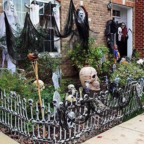 Schwarz Gruselige Tuch, Gruselige Halloween-Dekorationen, Halloween Spukhaus Party Dekoration Türöffnungen im Freien liefert, 315 '' X 79 '' - 7