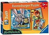 Ravensburger Italy 94042 - Puzzle Zootropolis, 3 X 49 Pezzi, Multicolore