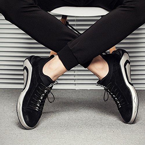 Feifei Chaussures Hommes Chaussures Printemps Et En Bas De Marée Loisirs Mouvement Automne Souvent 3 Couleurs (couleurs: Gris, Taille: Eu / 41 / Uk7.5-8 / Cn42) Noir