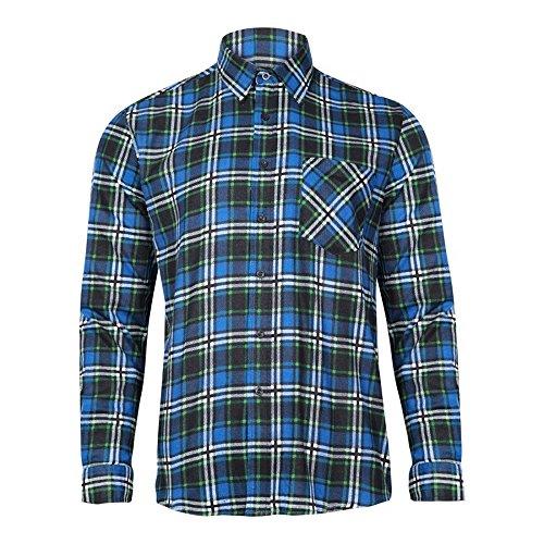 EXTREME PRO Herren Flanell-Hemd Blau Gr. 2XL EX1002_2XL