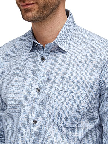 TOM TAILOR Herren Freizeithemd Ray Print Package Shirt leasure blue