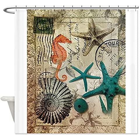 CafePress nautical seashells beach decor Shower Curtain - Standard White by CafePress