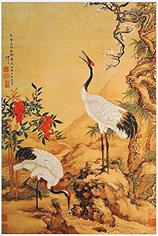 Peinture en soie Peinture chinoise en spirale Vie familiale Peinture décoration de chambre, de bonne qualité, facile à corriger, cadeaux de collection le meilleur choix