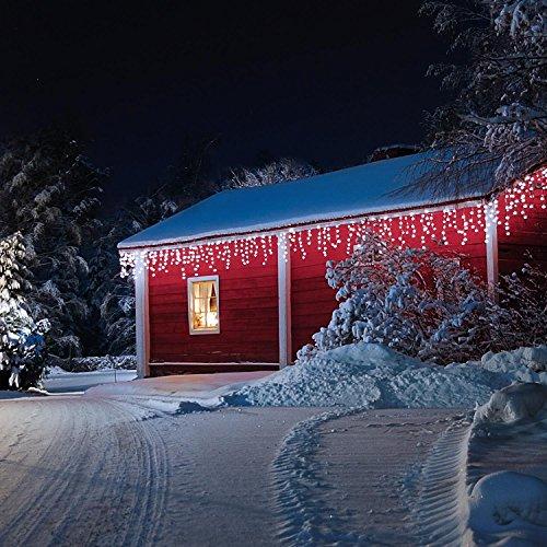 Blumfeldt Dreamhouse luci illuminazione natalizia (catena luminosa da 16 metri, 320 LED, cavo da 6 metri, effetto snow motion, IP44, per interni ed esterni) - bianco