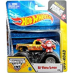 HOT WHEELS - EL TORO LOCO #50 - MONSTER JAM OFF-ROAD + 1 Figurine - ASST. 21572 - 1:64 - Vehicule #BGH13-098E