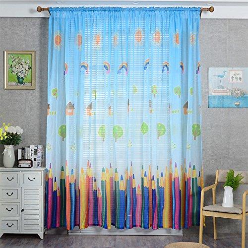 Jamicy Vorhänge ösen Wohnzimmer Modern 100 x 200cm Auto Transparent Orientalisch Muster Fenster Gardinen Deko Für Schlafzimmer Kinderzimmer Jungen