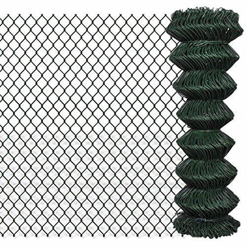 Zora Walter clôture clôture en grillage galvanisée 1,25 x 15 m Vert Clôture Jardin barrières extérieures clôture métallique accessoires clôture Kit Clôture extérieur