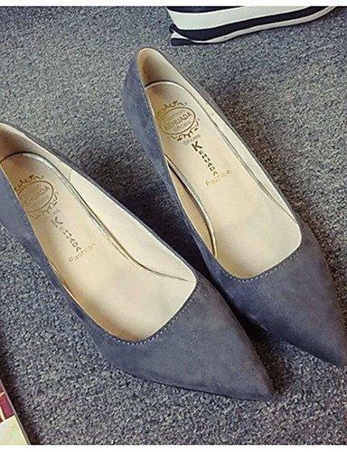 GS~LY Damen-High Heels-Lässig-Vlies-Stöckelabsatz-Absätze-Schwarz / Rot / Grau / Kamel gray-us6 / eu36 / uk4 / cn36