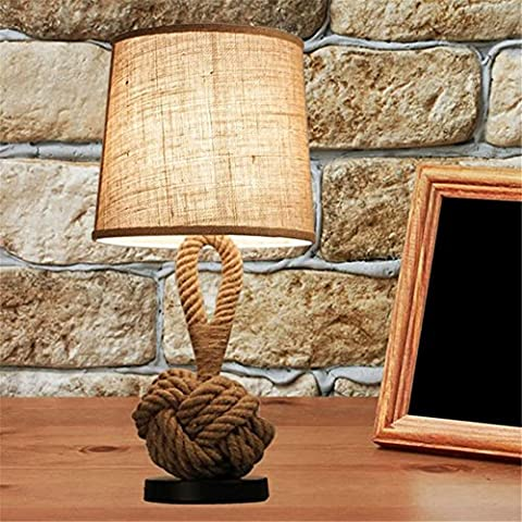 Vintage Table Light de mesa lamp Vintage mesa Lamps Rope Table Lamps LED Bedroom Lamps hemp rope