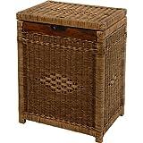 Cesto con marco de madera de ratán, Vintage marrón–Gastos de Envío libre en de