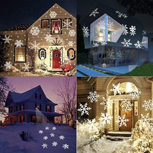 Weihnachtsbeleuchtung Aussen Motive.Schneeflocke Projektor Led Lichteffekt Viden Weihnac