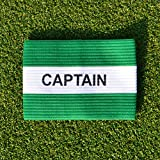 Captains Armband [Net World Sports] (Green/White Captains Armband - Senior)