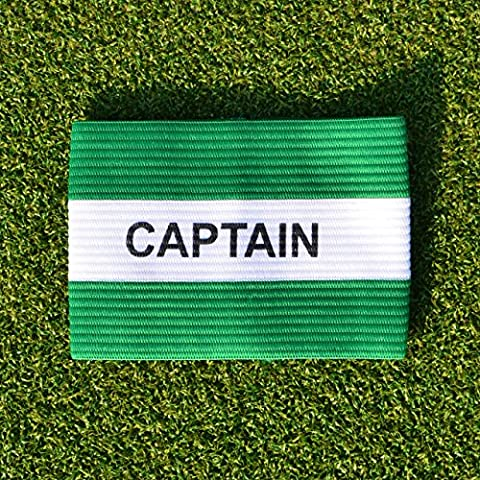 Captains Armband [Net World Sports] (Green/White Captains Armband -