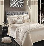 Intimates Velvet Sparkle Bling Bettwäsche-Set Bettbezug/Bettwäsche- und Kissenbezug-Set, Kunstseide, cremefarben, King Size