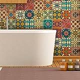 ambiance-live col-tiles-ros-a838_ 20x 20cm adesivi adesivi piastrelle, Multicolore, 20x 20cm, set di 16pezzi