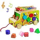 yoptote Giochi Montessori 1 2 3 Anno Xilofono Bambini Giochi in Legno Strumenti Musicali Bambini Giocattolo in Legno Xilofono