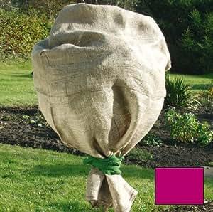 sac de sac en toile de jute arbustes en hiver pour les plantes contre le gel 100 x rouge 110 cm. Black Bedroom Furniture Sets. Home Design Ideas
