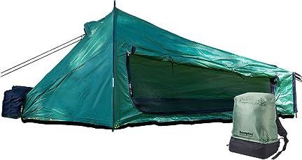 Semptec Urban Survival Technology Einmannzelt: Ultrakompaktes Rucksack-Tunnelzelt für 1 Person, 1.500 mm Wassersäule (Tent)
