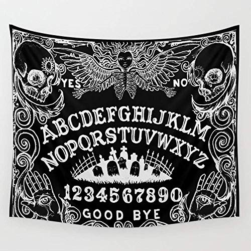 CHSUNHEY Wandteppiche Ouija Board Black Wall Tapestry Hanging Tapestries Wall Art Bed Sofa Dust Cover,Beach Blanket,Pick Nick Blanket,Table Cloth 60X80 inches Cell Board