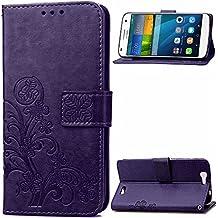 Beiuns para Huawei Ascend G7 (5,5 pulgadas) Funda de PU piel Carcasa - SD506 púrpura