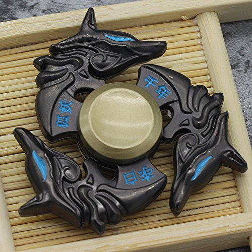 Mano spinner della lega Tri Fidget Focus Toy Edc finger spin Gyro ADHD autismo -