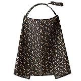 TININNA Baumwolle Stillen Abdeckung Stilltuch für diskretes Stillen Stillschal Krankenpflege -Abdeckung schwarz