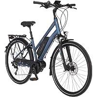 FISCHER Damen - Trekking E-Bike ETD 1820.1, Elektrofahrrad, saphirblau matt, 28 Zoll, RH 44 cm, Mittelmotor 50 Nm, 48 V…