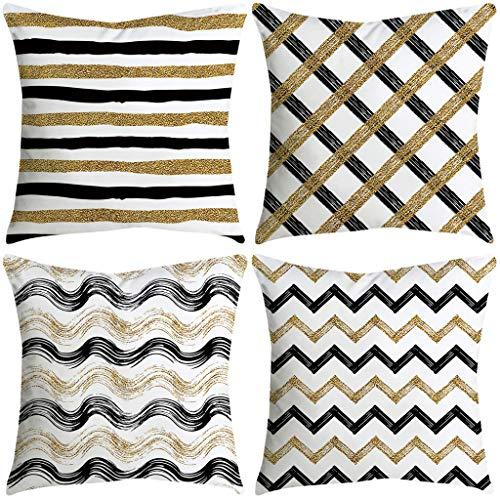 FeiliandaJJ 4PCS Kissenbezug, kissenhülle Kopfkissenbezug Home Dekoration Pillowcase Super weich Sofakissen für Wohnzimmer Sofa Bed,45x45cm (K) -