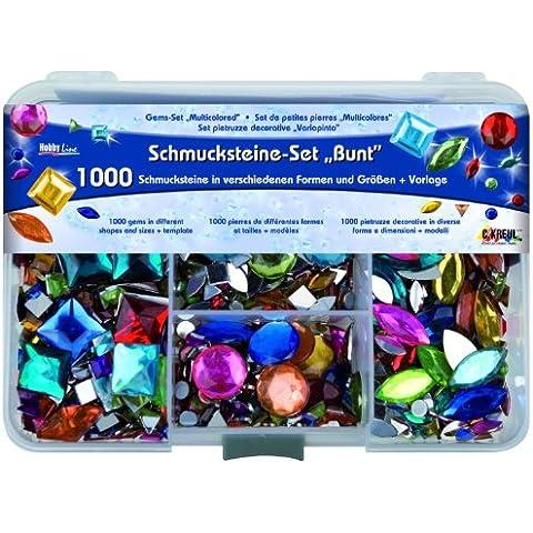 Hobby Line 49641 - Juego de piedras para decorar, varios colores