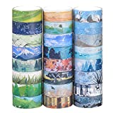 Washi Masking Tape Set von 24, dekorative Masking Tape Collection,verschiedene...