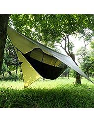 Cymall Tent Tarps ligero Impermeable RipStop Tarp Tarp Tarp Tarta para Camping Senderismo 3 * 3M Compactos Versátil Durable Impermeable RipStop Rain Fly Hammock Tarp Cubierta
