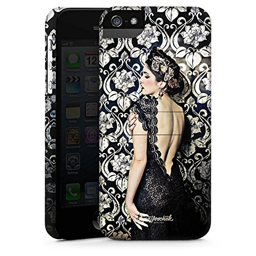 Apple iPhone 5 Housse étui coque protection Anna Karénine Mode Fashion CasStandup blanc