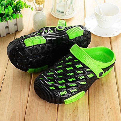 Eastlion EVA Paar Strand Garten Schuhe Sommer Mode Beiläufige halbe Hausschuhe für Liebhaber Männlich Stil 3 Grün