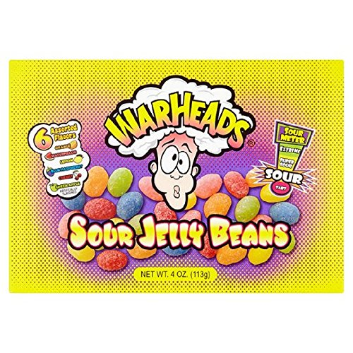 Warheads Sour Jelly Beans Kaubonbons 113 - Dawn Food Products
