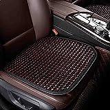XIAOYA Funda Asiento Coche Wood Bead Seat Cover Massage Transpirable Auto Cojín Asiento Cuatro Estaciones Universal,Black